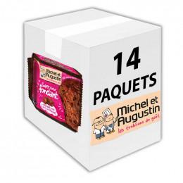 Super Cookies Coeur Fondant au Chocolat Noir et Pépites de Chocolat - 60 gr - Carton 14 unites