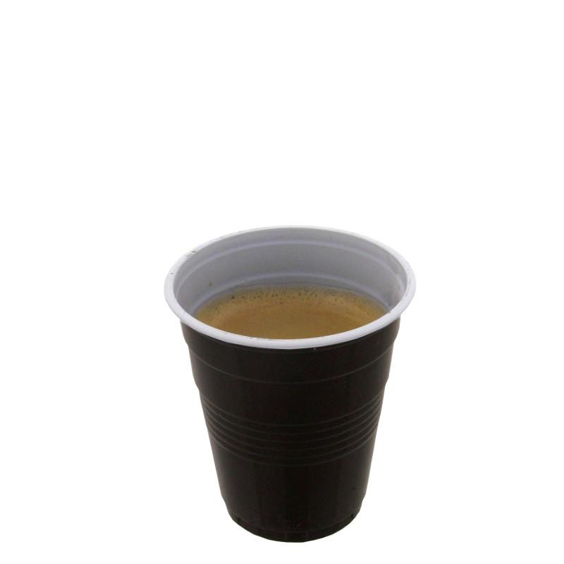 gobelet en plastique bicolore 10 cl par 100 coffee webstore. Black Bedroom Furniture Sets. Home Design Ideas