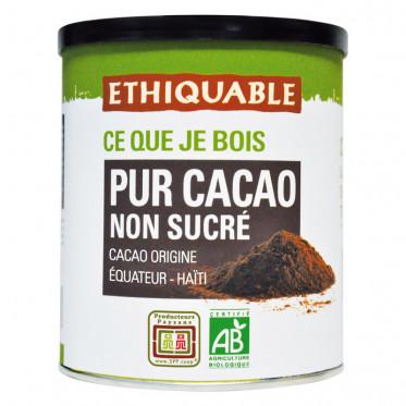 Pur Cacao Non Sucré Éthiquable Équateur Haïti - Boîte 200 gr