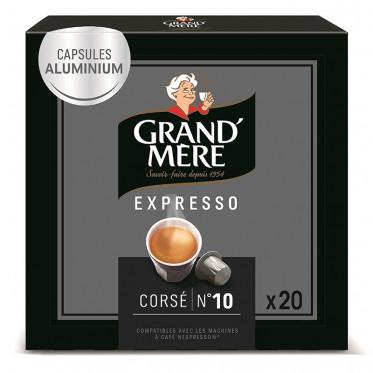 capsule nespresso compatible grand 39 m re cors 1 bo te 20 capsules. Black Bedroom Furniture Sets. Home Design Ideas