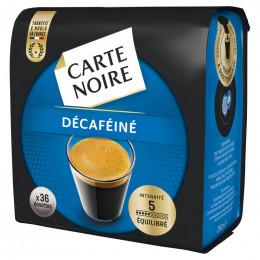 Dosettes Souples Senseo Compatibles Carte Noire n°5 Café Décaféiné : 36 dosettes