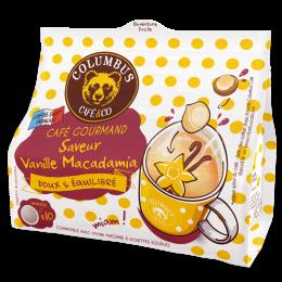 Dosette souple Café Saveur Vanille Macadamia - Columbus Café - 10 pads