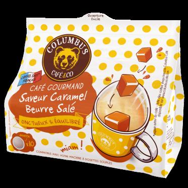 Dosette souple Café Saveur Caramel Beurre Salé - Columbus Café - 10 pads