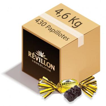 Carton de Papillotes Révillon : Malakoff praliné au Chocolat noir - 4,6 Kg