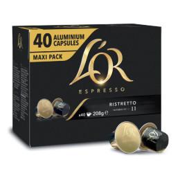 Capsule Nespresso Compatibles L'Or Espresso Ristretto - Maxi Pack - 40 capsules