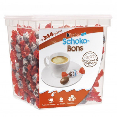 Tubo chocolat Kinder Maxi Mini - 340 pièces