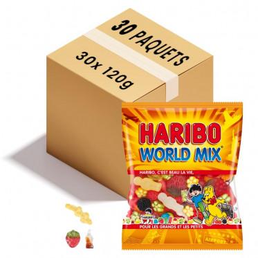Bonbon en Gros : Haribo World Mix - 30 sachets de 120g