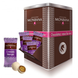 Boite métal Chocolats Monbana - Crousti-Neige - 400 pièces
