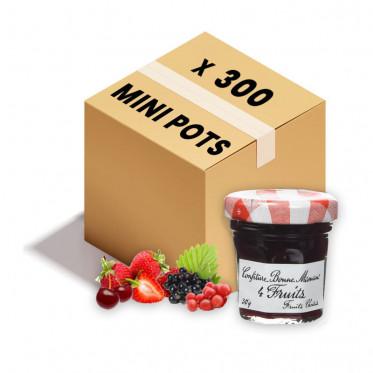 Confiture Bonne Maman - Mini pot en verre de confiture 4 fruits - 300x 30g