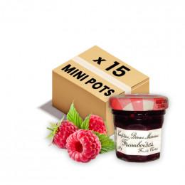 Confiture Bonne Maman - Mini pot en verre de confiture Framboise - 15x 30g
