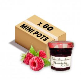 Confiture Bonne Maman - Mini pot en verre de confiture Framboise - 60x 30g