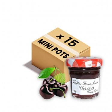 Confiture Bonne Maman - Mini pot en verre de confiture Cerise - 15x 30g