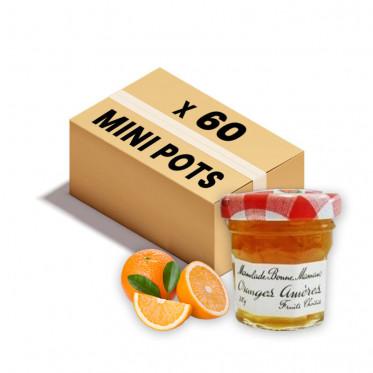 Confiture Bonne Maman - Mini pot en verre de confiture Orange amères - 60x 30g