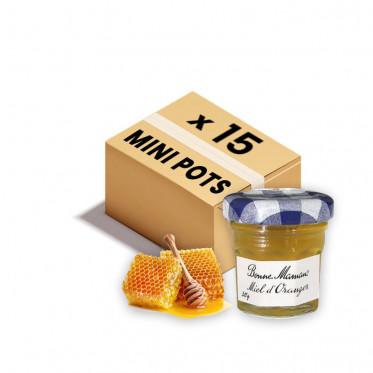 Confiture Bonne Maman - Mini pot en verre de miel Fleur d'Oranger - 15x 30g