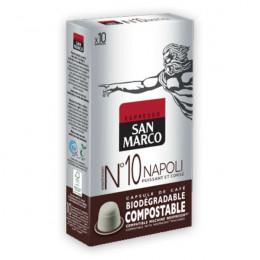 Capsules Nespresso compatible - biodégradable et compostable - N°10 Napoli - San Marco - 10 capsules