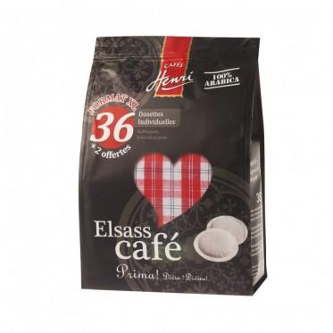Dosette souple Cafés Henri Elsass – 36 pads + 2 offerts
