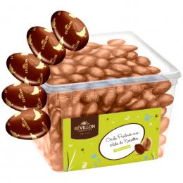Oeufs Praliné aux éclats de Noisette Chocolat Lait pour Pâques - 2Kg - Révillon