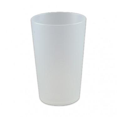 Gobelet réutilisable 15 cl - Translucide givré - par 10