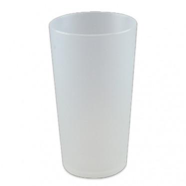 Gobelet réutilisable 25 cl - Translucide givré - par 10