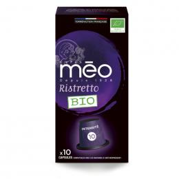 Capsule Nespresso Compatible Cafés Méo Ristretto - 10 capsules