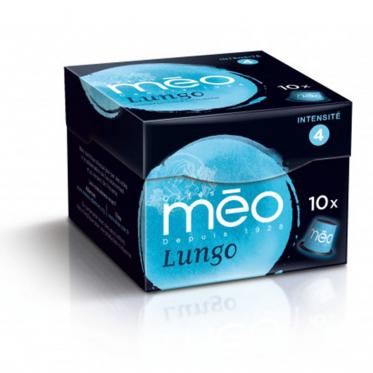 Capsule Nespresso Compatible Cafés Méo Lungo - 10 capsules