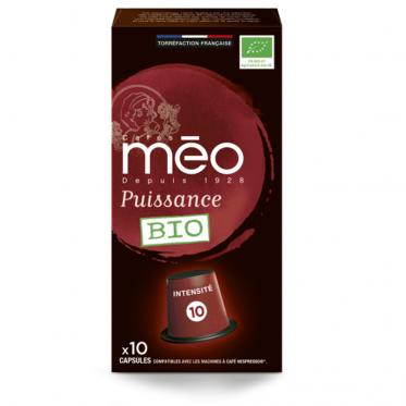 Capsule Nespresso Compatible Cafés Méo Puissance - 10 capsules