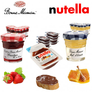 PACK Nutella, Miel, Fraise : Nutella & Bonne Maman - 240 portions