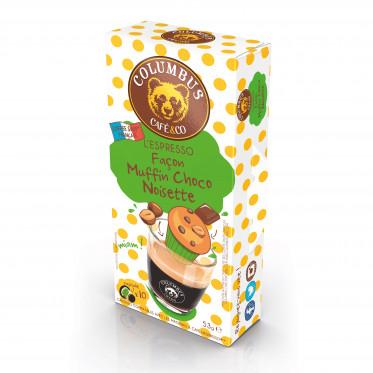 Capsule Nespresso Compatible Café Muffin Choco Noisette - Columbus Café - 10 capsules